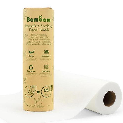 Essuie-tout lavable en fibres de bambou et polyester