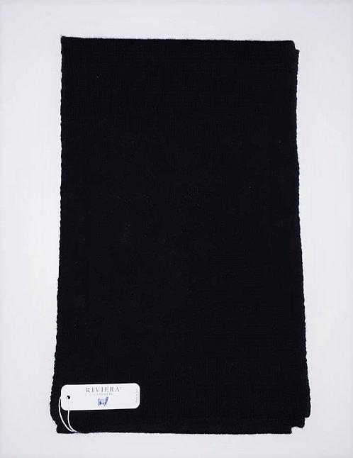 Écharpe 100 % cachemire - Couleur Noir - Riviera Cashmere