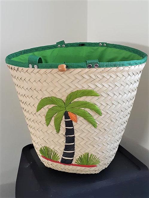 Sac cabas en satrana (palmier) - 3 motifs - Commerce équitable - Madagascar