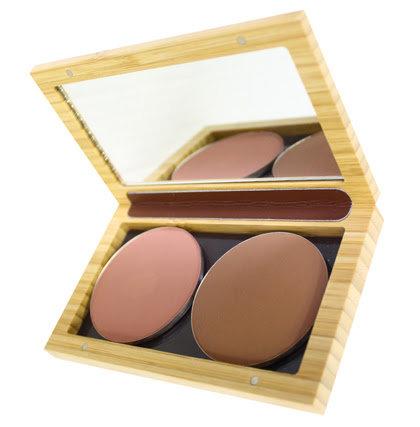Boîtier magnétique rechargeable en bambou (taille M) - non garni - Zao