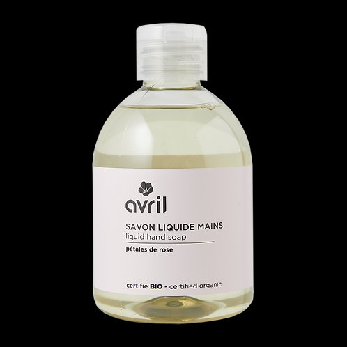 Savon liquide pour les mains (sans pompe) bio et végan Avril - 300 ml