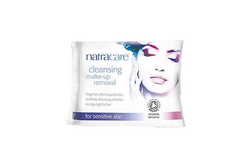 Lingettes démaquillantes Natracare pour peaux sensibles - 14 lingettes