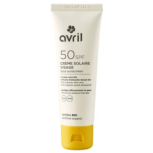 Crème solaire visage SPF 50 bio et végane - 50 ml