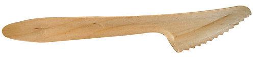 Lot de 100 couteaux en bois de peuplier
