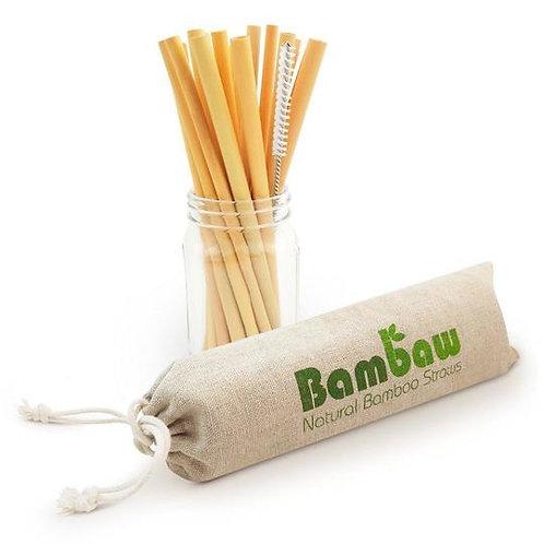 Set de 12 pailles en bambou (14 cm ou 22 cm au choix)