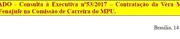 [Discussão-Executiva] 53. RESULTADO - Consulta à Executiva nº53/2017 – Contratação da Vera Miranda p