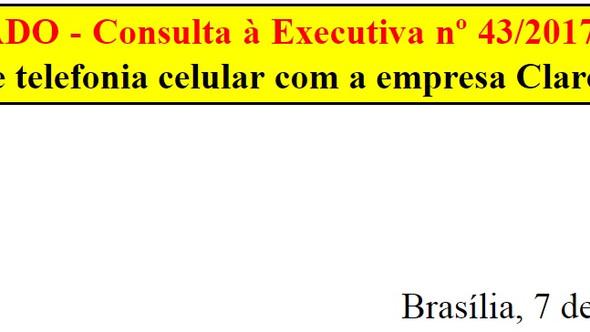 [Discussão-Executiva] 43. RESULTADO - Consulta à Executiva nº 43/2017 – Renovação de contrato de tel