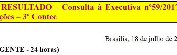 [Discussão-Executiva] 59. RESULTADO - Consulta à Executiva nº59/2017 – Moções – 3º Contec