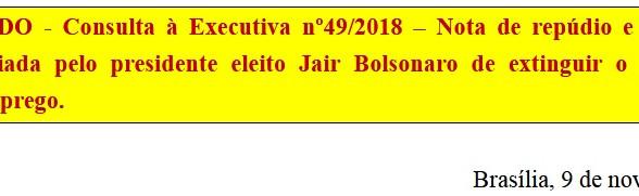 [Discussão-Executiva] RESULTADO - Consulta à Executiva nº49/2018 – Nota de repúdio e contestação à d