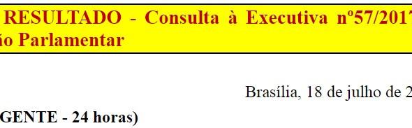 [Discussão-Executiva] 57. RESULTADO - Consulta à Executiva nº57/2017 – Ação Parlamentar