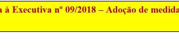 [Discussão-Executiva] 09. RESULTADO - Consulta à Executiva nº 09/2018 – Adoção de medidas judiciais