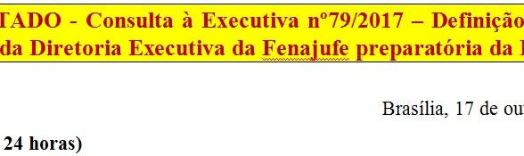 [Discussão-Executiva] 79. RESULTADO - Consulta à Executiva nº79/2017 – Definição de horário da Reuni