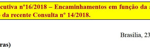 Re: [Discussão-Executiva] CONSULTA RETIRADA EM FUNÇÃO DE ERRO MATERIAL 16.Consulta à Executiva nº16/