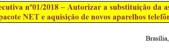 [Discussão-Executiva] RESULTADO .01 Consulta à Executiva - 18.01.18 - Autorizar a substituiçao da as