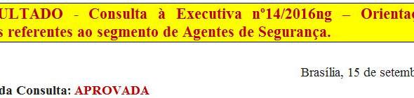 14. RESULTADO - Consulta à Executiva nº14/2016ng - Orientações aos sindicatos referentes ao segmento