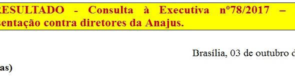 [Discussão-Executiva] 78. RESULTADO - Consulta à Executiva nº78/2017 – Fazer representação contra di
