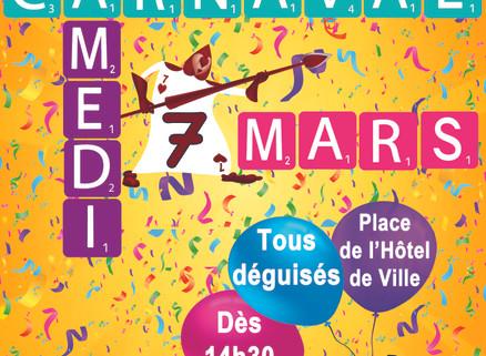 Osez, amusez-vous : Samedi 7 mars, c'est Carnaval !