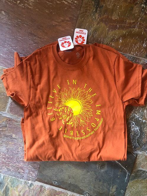 Sunflower Awareness short-sleeve: Burnt Orange