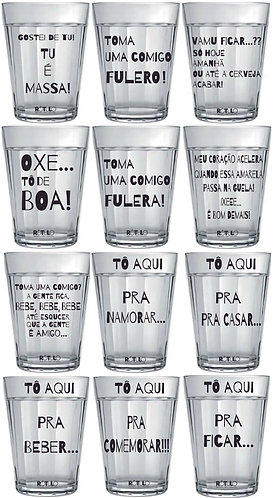 JG COPO AMERICANO (12PÇ) 190ml FRASE DE BAR e-CLC