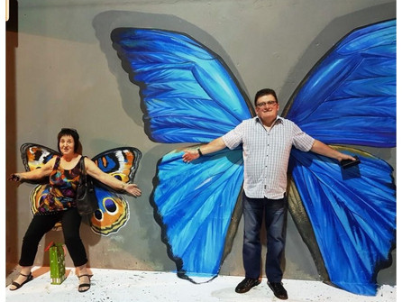 ......surrounded by butterflies?