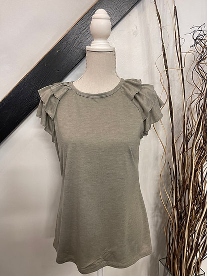 Olive Frill Top