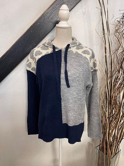 Navy & Grey Sweater Hoodie