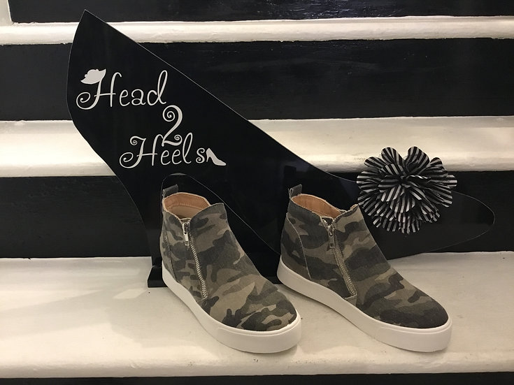 Camo Wedged Sneaker