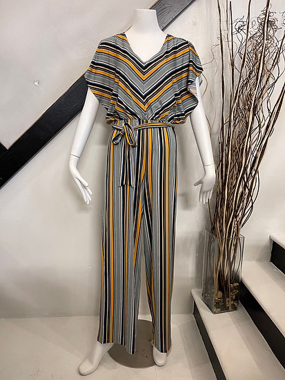 Mustard Stripe Jumpsuit