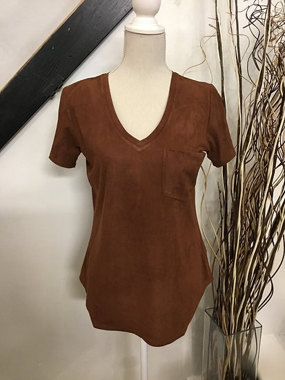 Chocolate V-Neck Tee