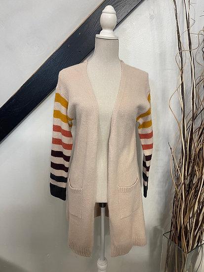 Warm Striped Cardigan