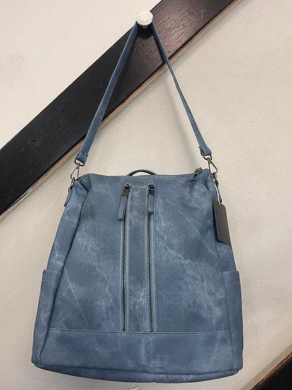 Blue Backpack Purse