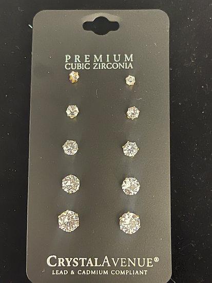 5 pack Stud Earrings
