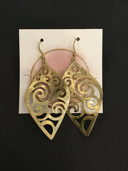 Gold Metal Cut-Out