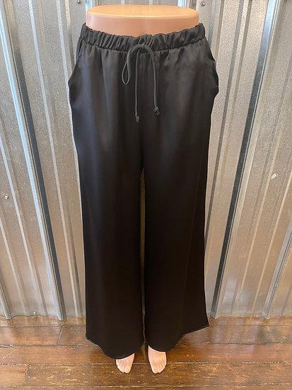 Black Satin Wide Legged Bottoms