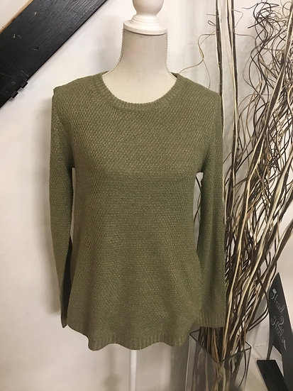 Olive Green Waffle Knit Sweater