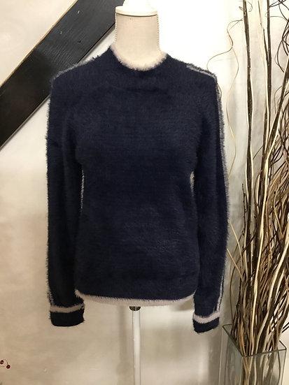 Navy Fuzzy Sweater