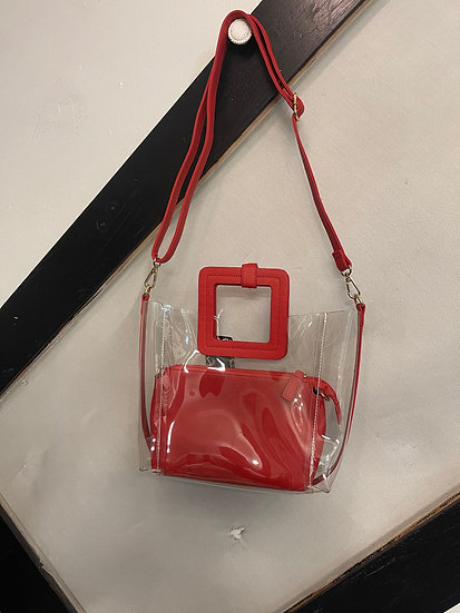 Clear / Red Purse