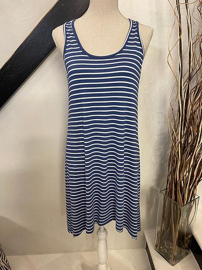 Blue/white Hi Lo Dress