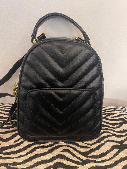 Mini Black Backpack