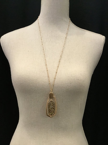 Gold Bedazzled Necklace