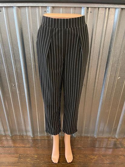 Black Stripe Pants