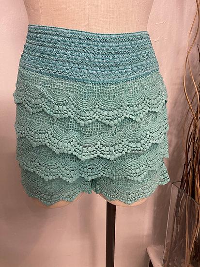 Mint Crocheted Shorts