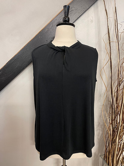 Black Tank with Knot Detail