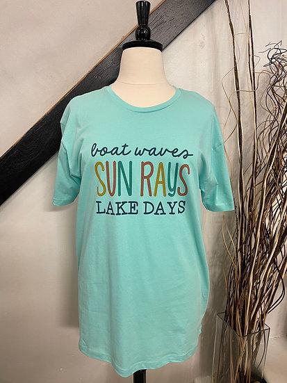 "Mint ""Boat waves Sun rays Lake days T-Shirt"