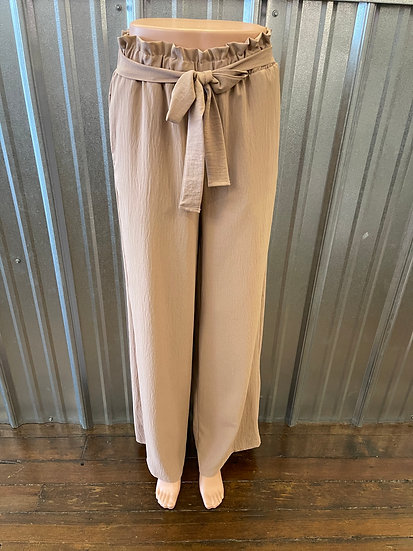 Taupe Woven Wide Leg Pant