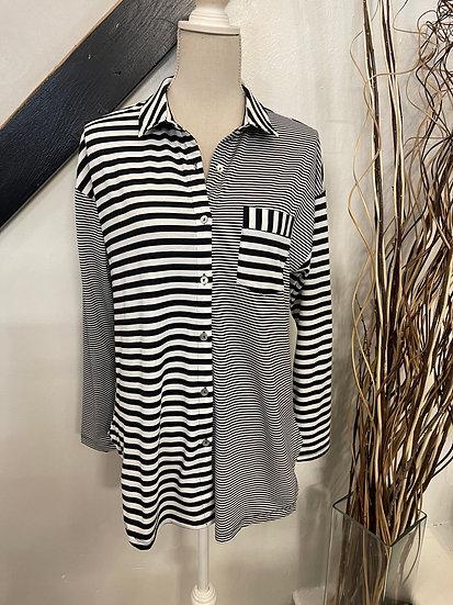 Mixed Stripe Knit Shirt