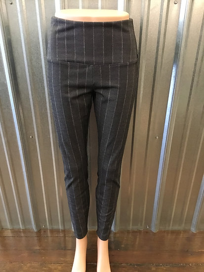 Signature Legging: Executive Pinstripe