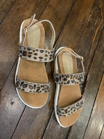 Tan/Leopard Sandal