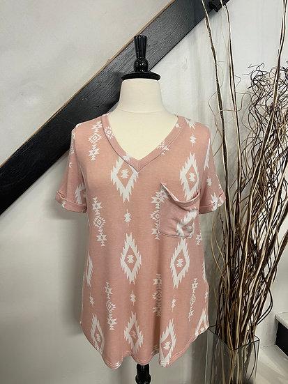 Pink Geo T-Shirt