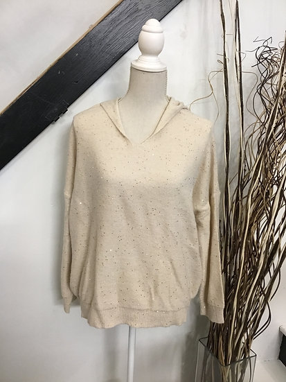 Natural Sweater Pullover with Sequins